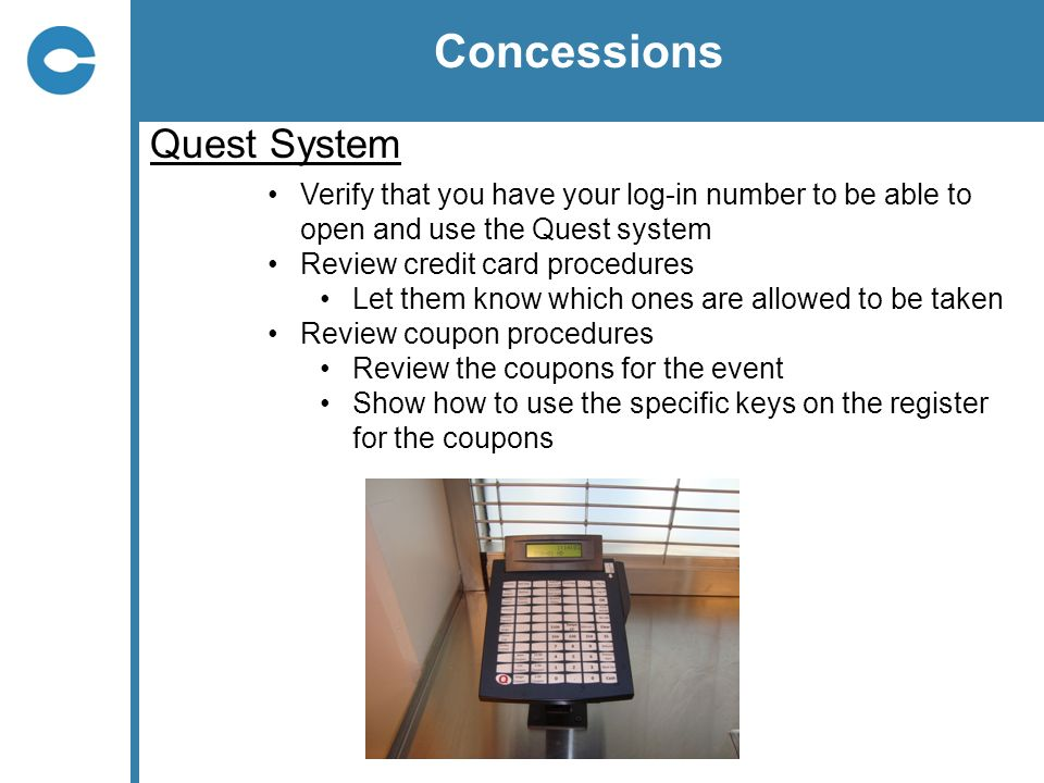 Concessions Quest System