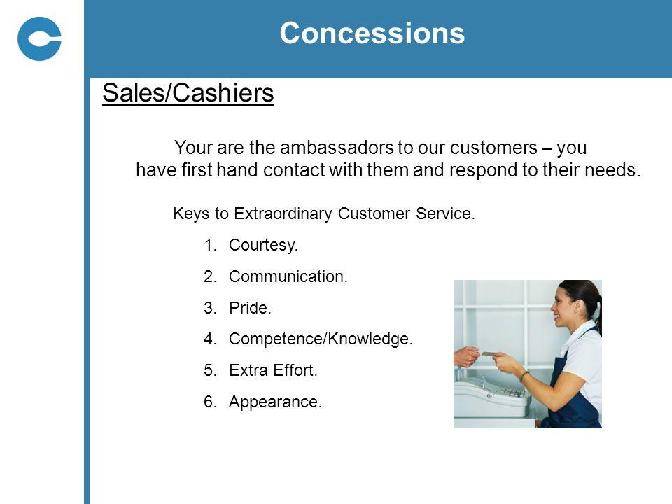 Concessions Sales/Cashiers