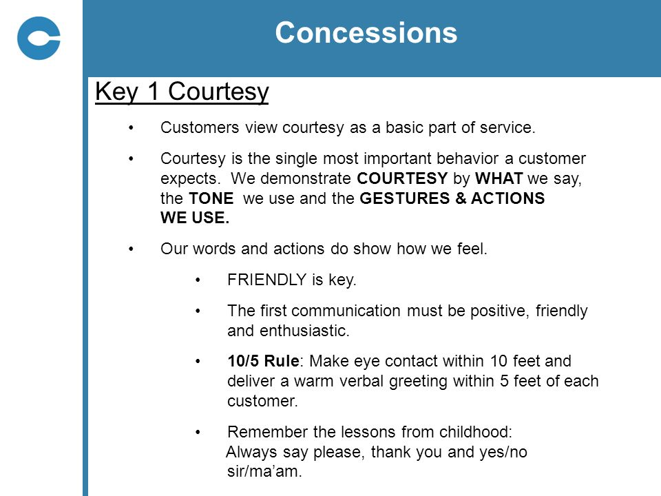 Concessions Key 1 Courtesy