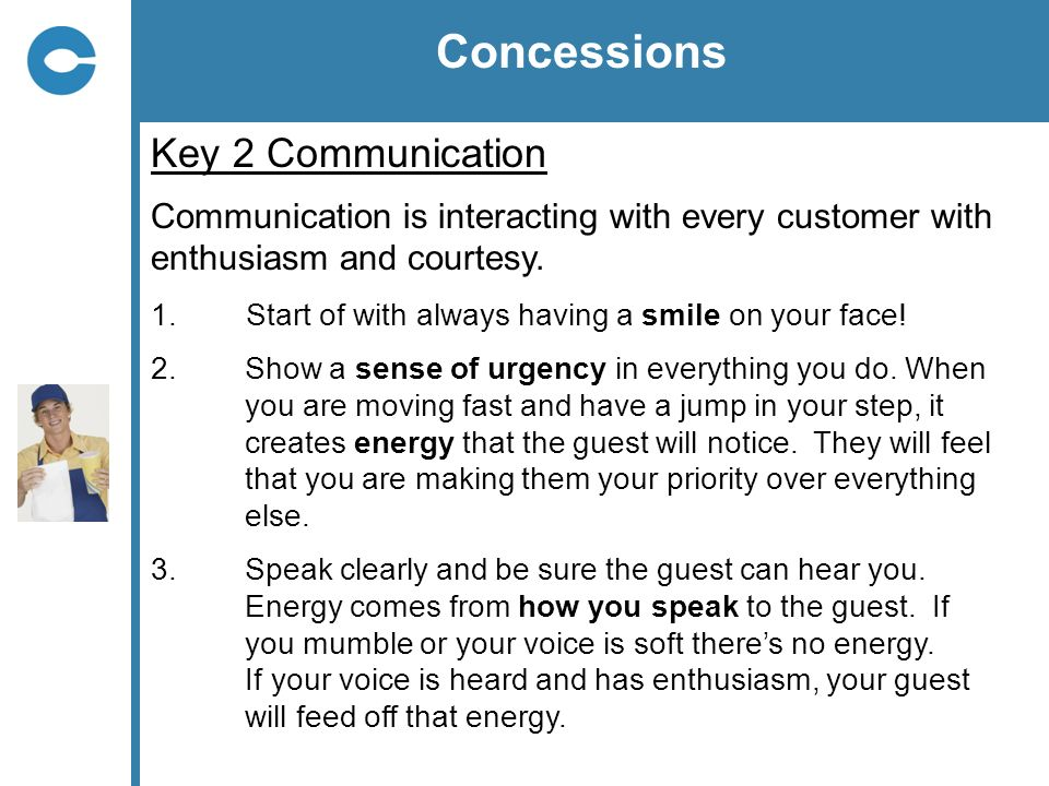 Concessions Key 2 Communication