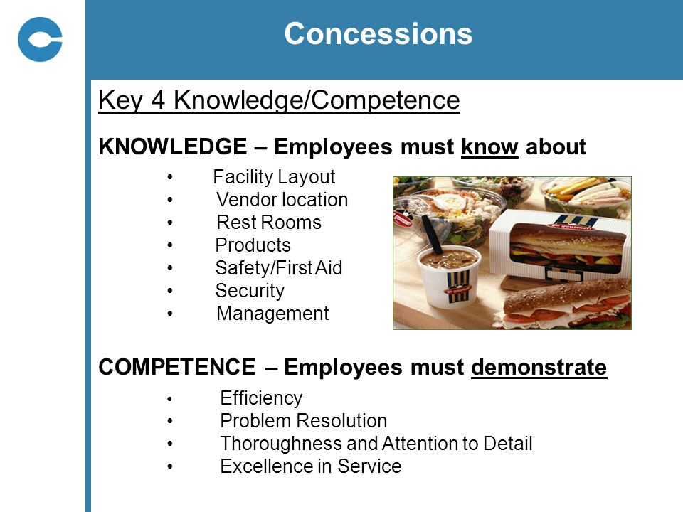 Concessions Key 4 Knowledge/Competence