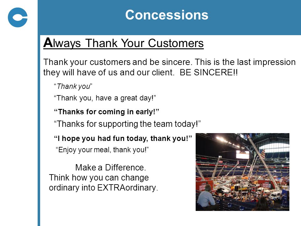 Always Thank Your Customers