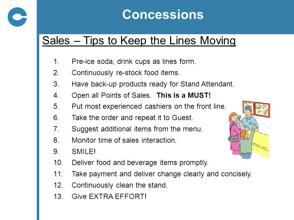 Concessions Sales – Tips to Keep the Lines Moving