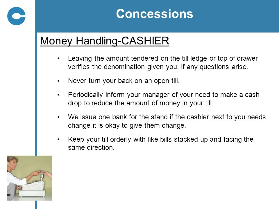 Concessions Money Handling-CASHIER