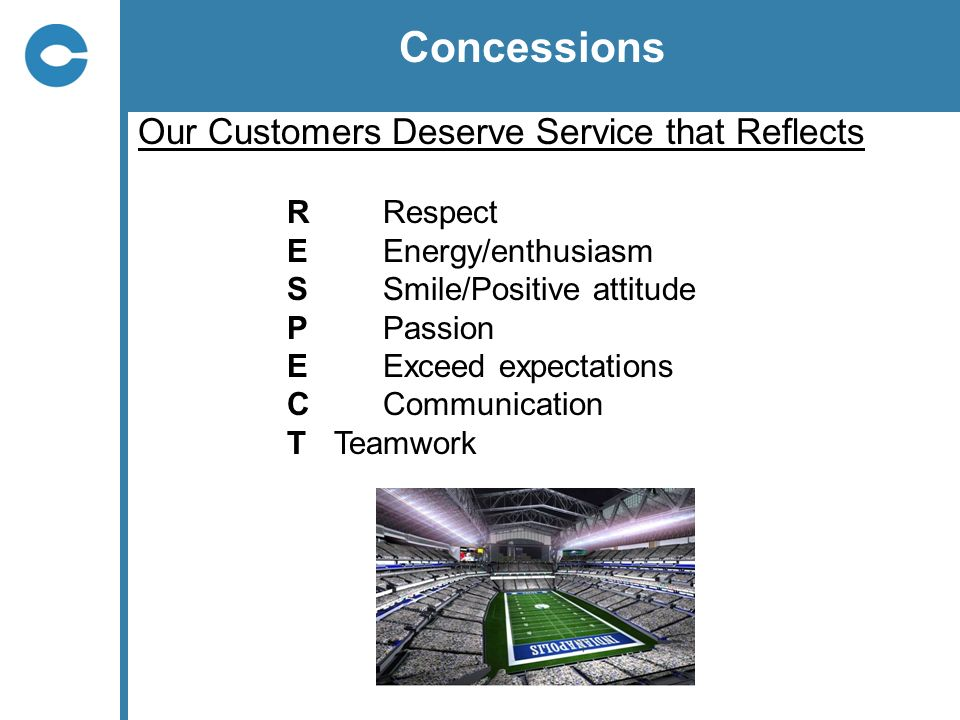 Concessions Our Customers Deserve Service that Reflects R Respect