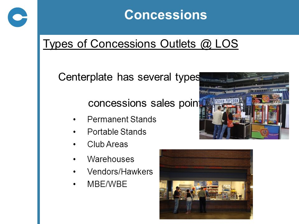 Concessions Types of Concessions LOS