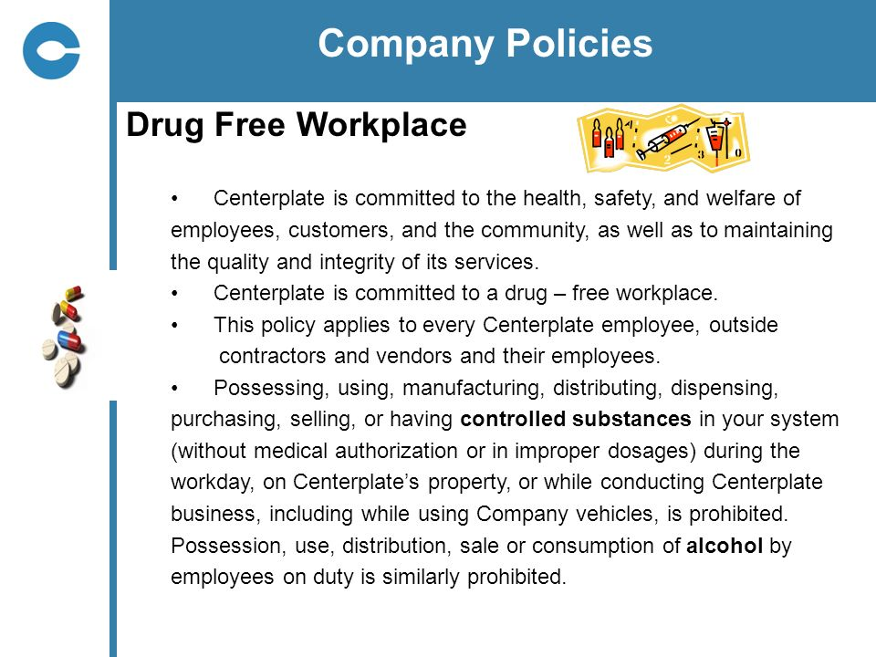 Company Policies Drug Free Workplace