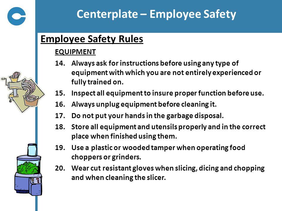 Centerplate – Employee Safety