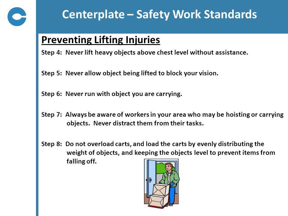 Centerplate – Safety Work Standards