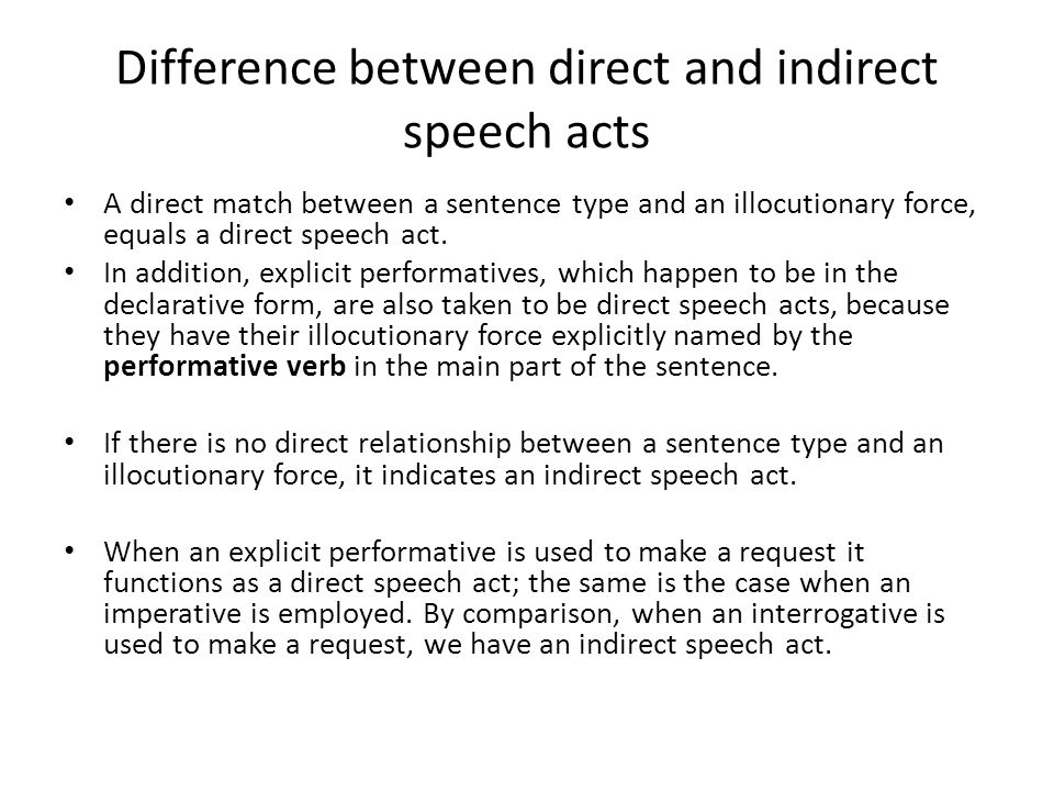 Thesis On Speech Acts