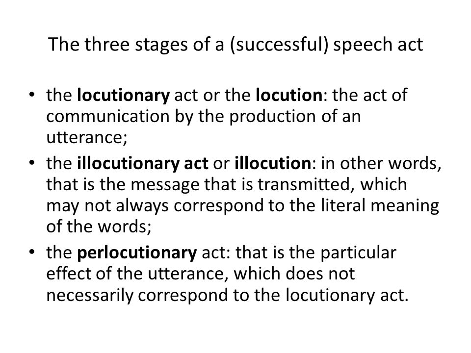 8 stages of speech communication