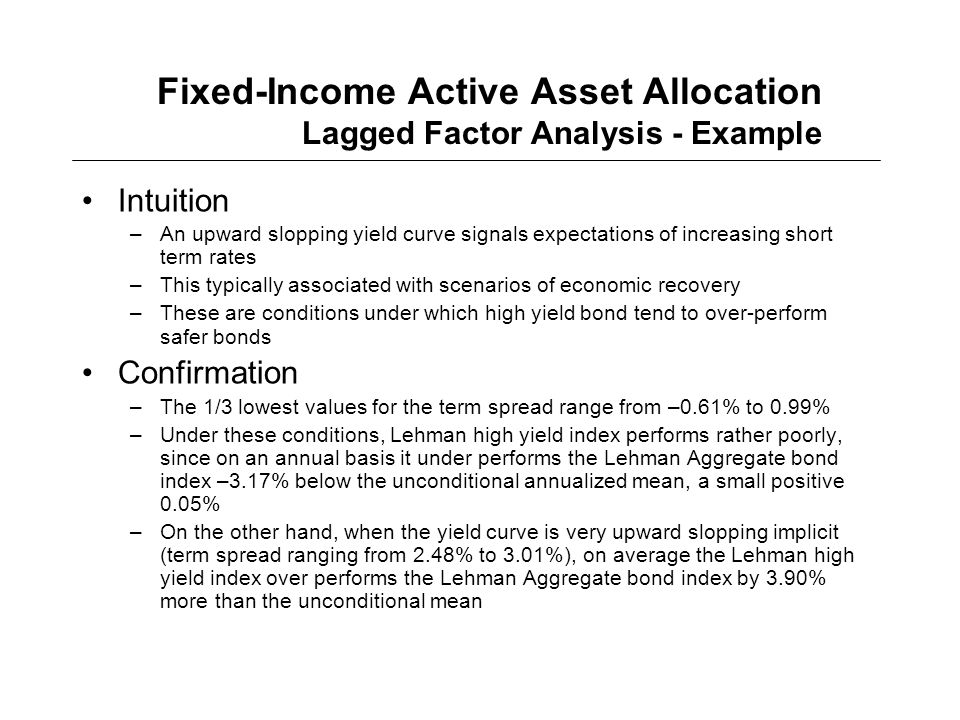 fixed income analysis Fixed-income attribution refers to the process of measuring  supplied but there is none of the more detailed analysis supplied by a true fixed-income.