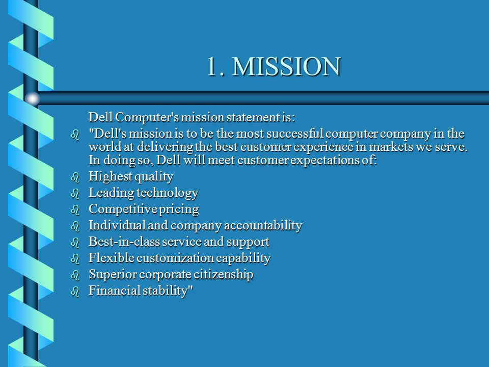 dell vision mission statement essay Free essays on analysis of vision and mission of dell for students use our papers to help you with yours 1 - 30.