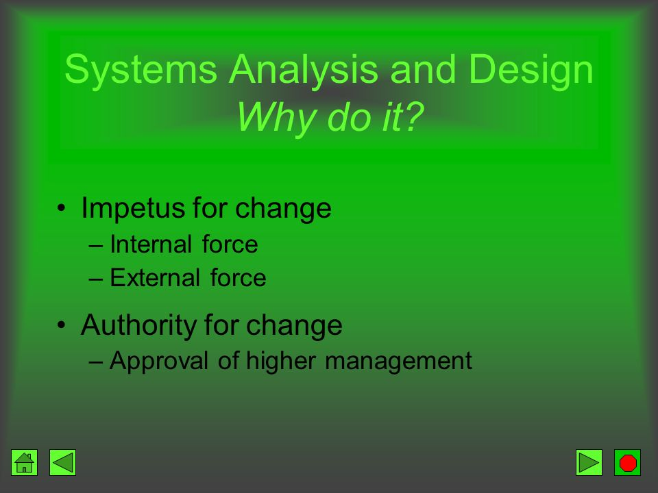 Systems Analysis and Design Why do it