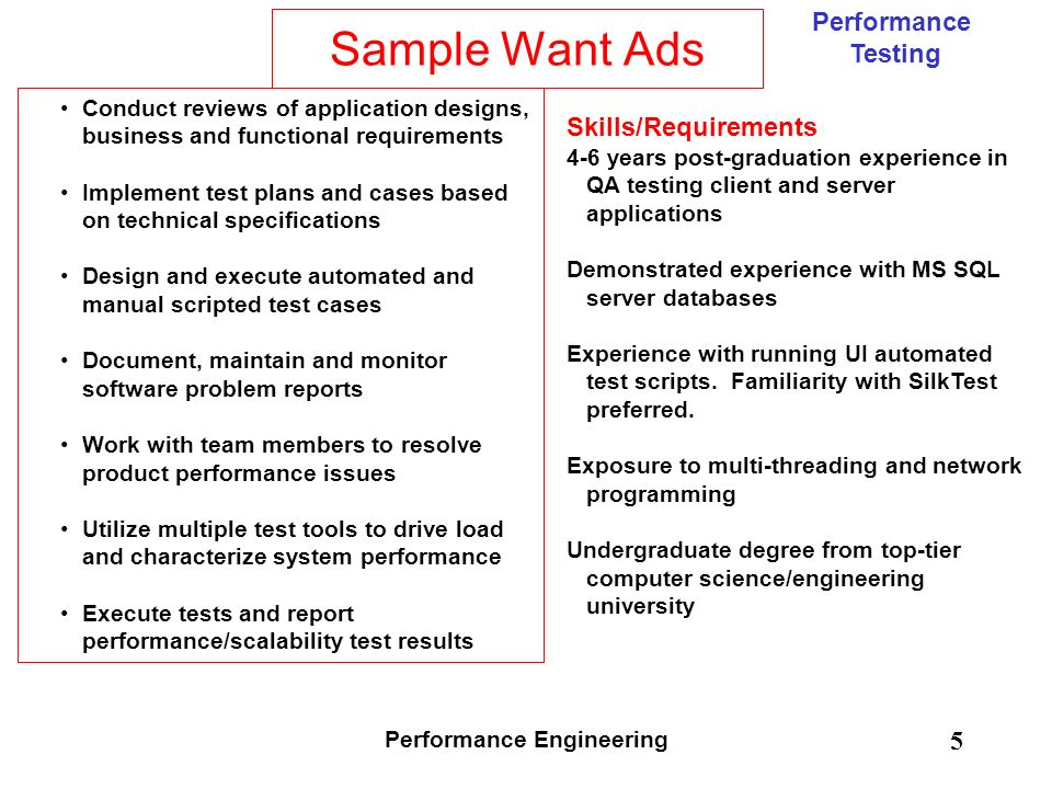 Performance Engineering  Ppt Download