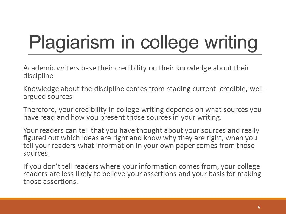 How to avoid plagiarism?