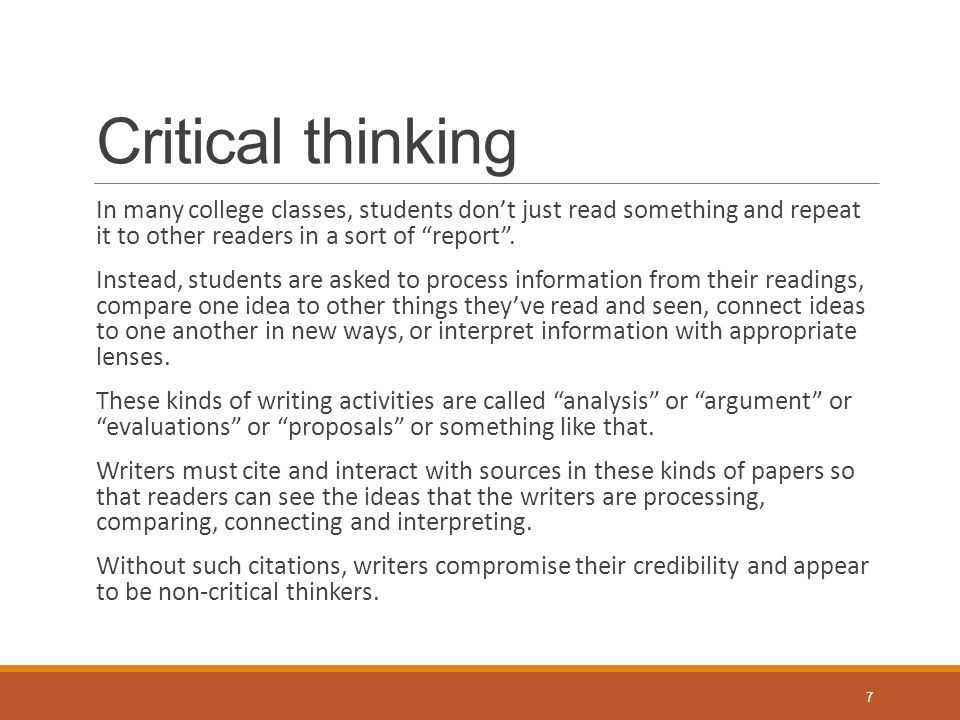 critical thinking assignment writing The paper should follow guidelines for clear and organized writing:  this assignment asks you to engage in this aspect of critical thinking the assignment is.
