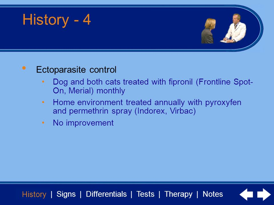 History - 4 Ectoparasite control