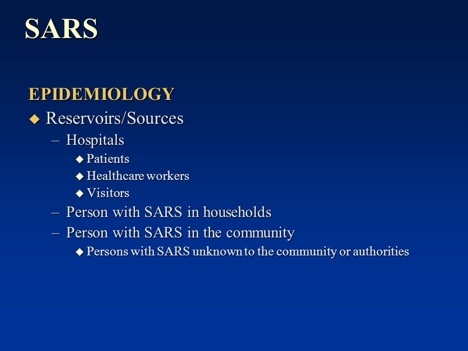 sars effect to community Also obtained from matched community control subjects during the  severe acute respiratory syndrome, sars  effect between health care worker status.