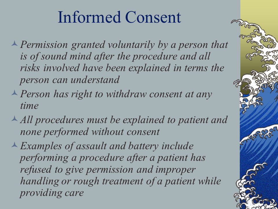 how to give informed consent