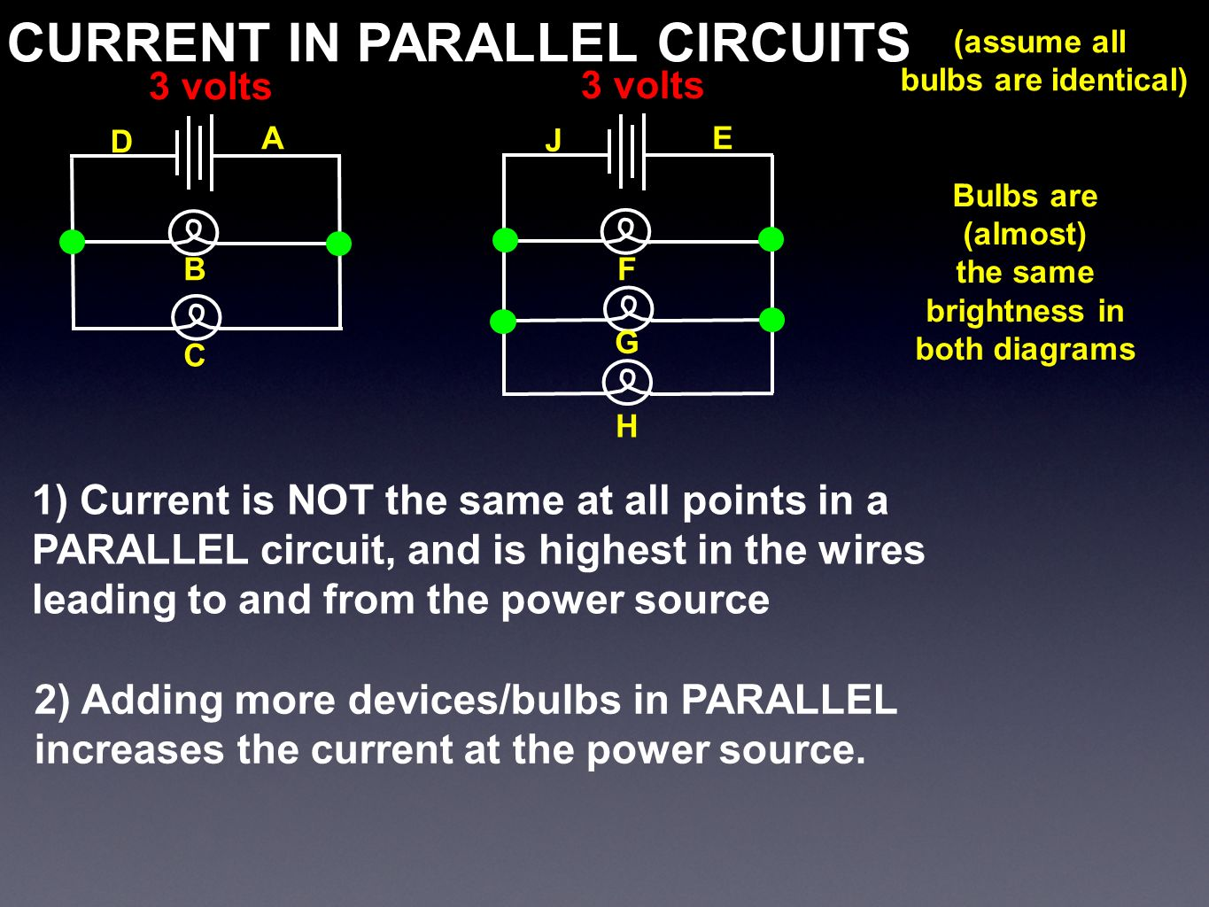 Parallel Circuit With 3 Bulbs Series Lighting System Resistors Lights In C 20032012 4physicscom Download