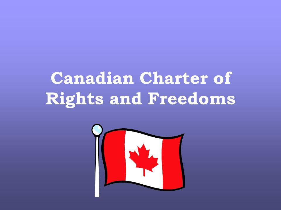 charter of rights and freedom The most visible and recognized part of the canadian constitution, the charter of rights and freedoms, guarantees the rights of individuals by enshrining those rights, and certain limits on.