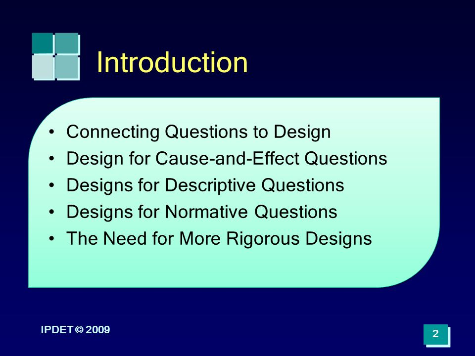 Introduction Connecting Questions to Design ppt