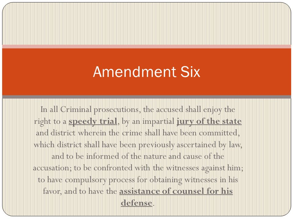 Amendment Six