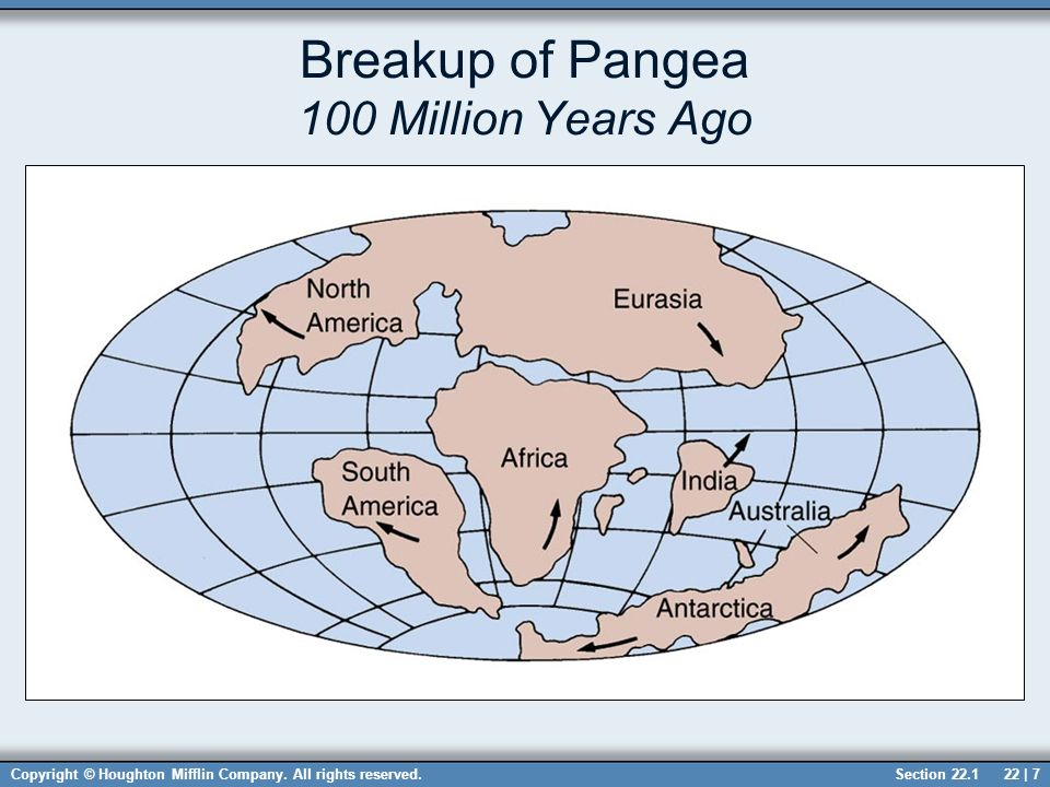 Chapter 22 structural geology sections ppt download breakup of pangea 100 million years ago sciox Image collections
