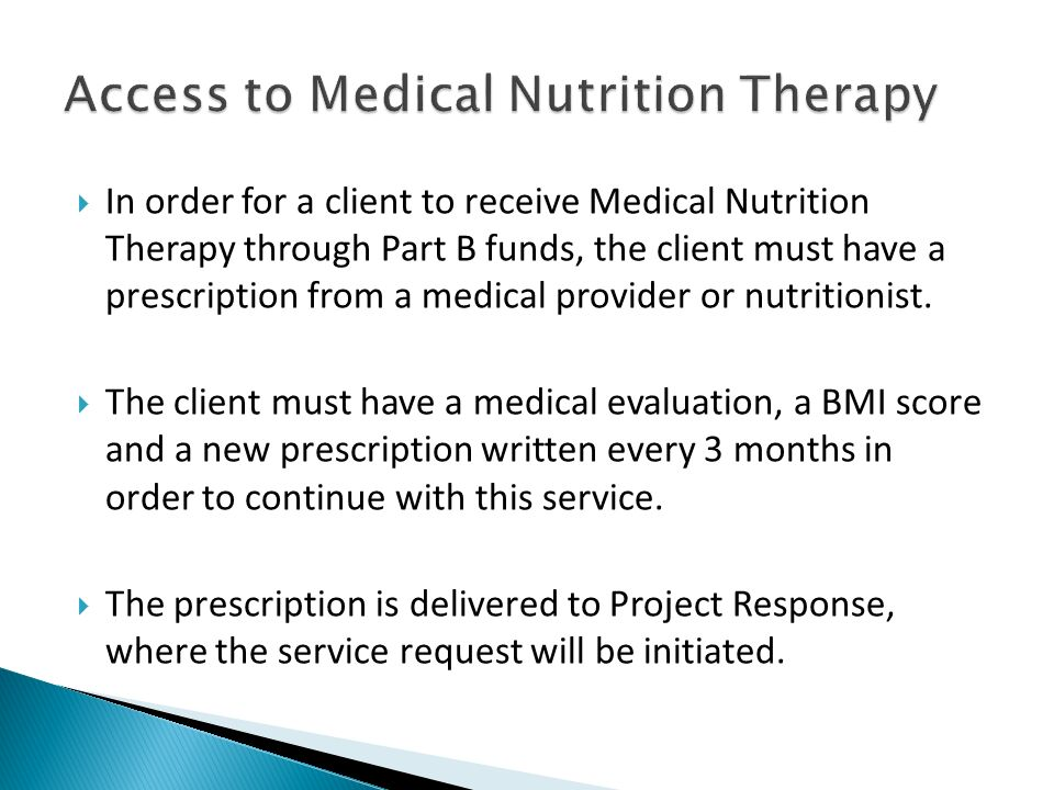 Access to Medical Nutrition Therapy