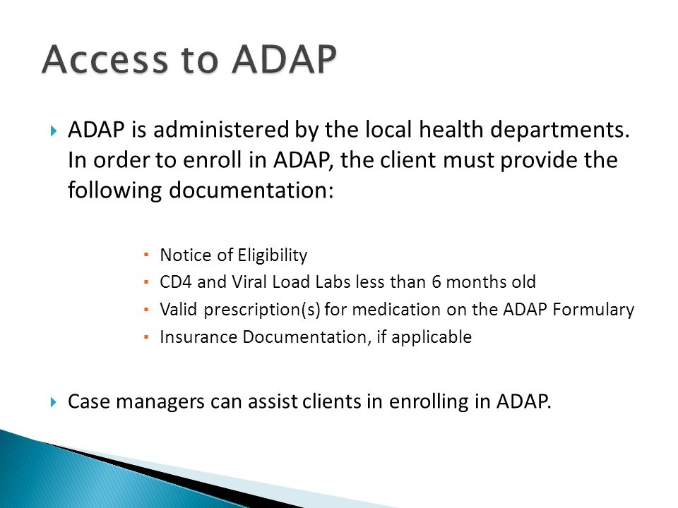 Access to ADAP