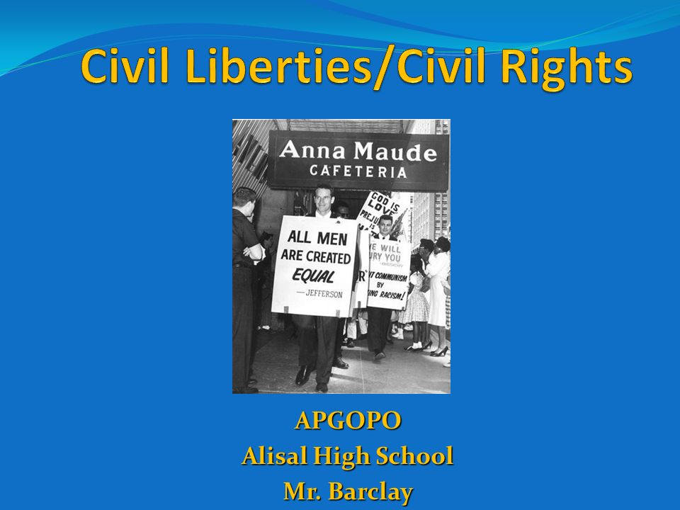 civil liberties civil rights For almost 100 years, the aclu has worked to defend and preserve the individual rights and liberties guaranteed by the constitution and laws of the united states.