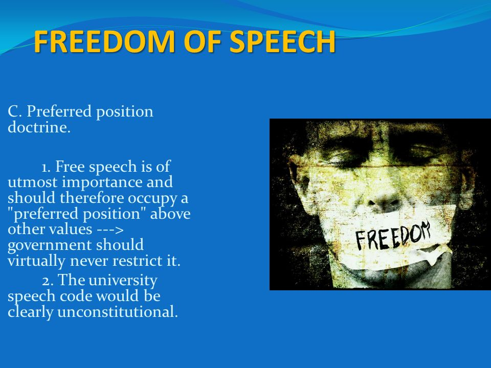 the importance of freedom of speech in a society Richard moon has developed the argument that the value of freedom of speech and freedom of expression lies declaration of principles adopted in 2003 makes specific reference to the importance of the right to freedom of expression for the a defence of free speech in an open society.