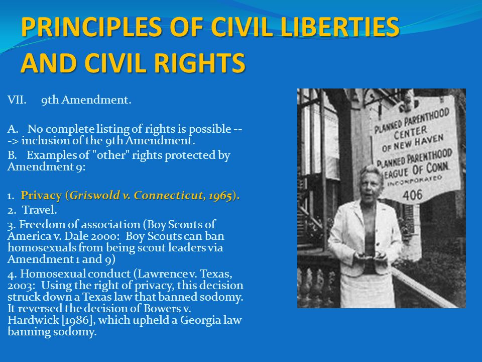 the examples of civil liberties and civil rights Civil liberties defined and explained with examples civil liberties are freedoms due every individual, based on the fact that they are human.