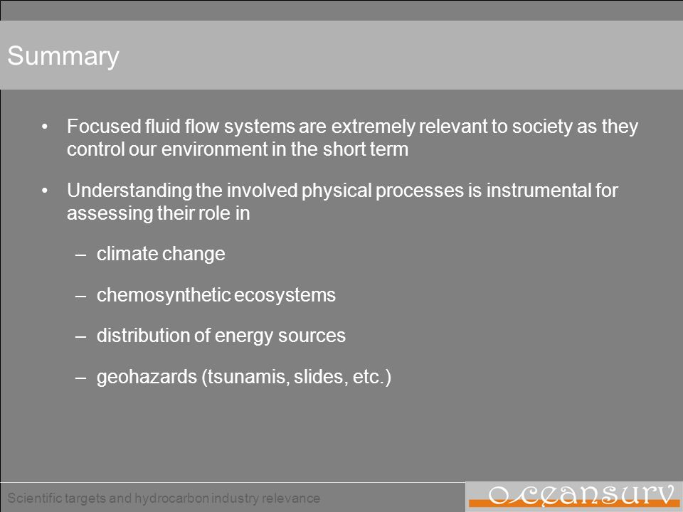 Summary Focused fluid flow systems are extremely relevant to society as they control our environment in the short term.