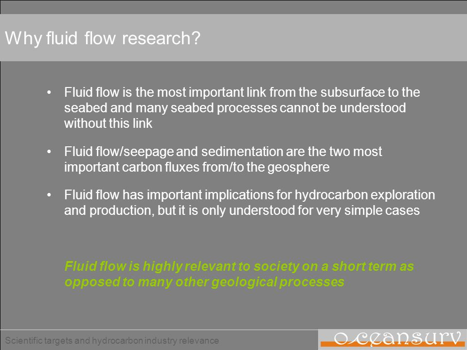 Why fluid flow research