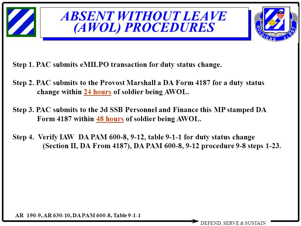ABSENT WITHOUT LEAVE DROPPED FROM ROLLS - ppt video online download