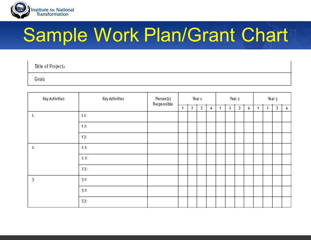 44 Sample Work Plan/Grant Chart