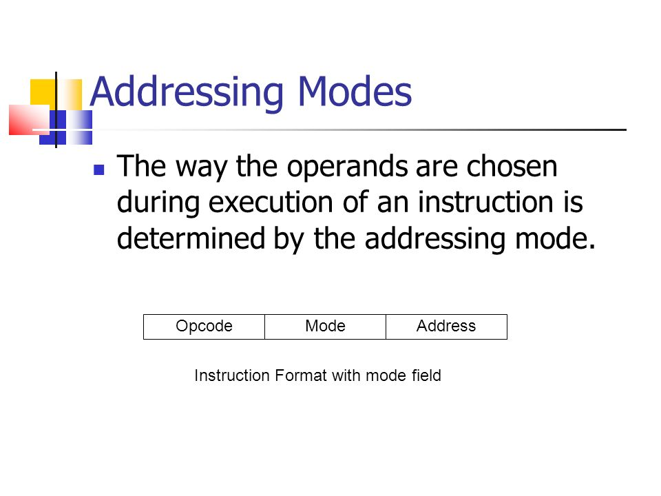Adressing Modes and Instruction Cycle