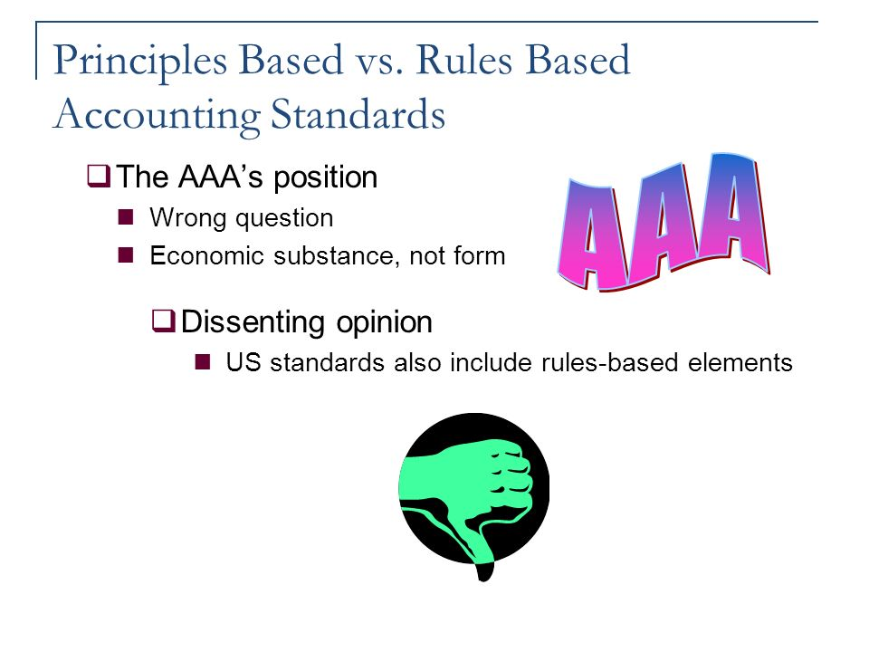 principal vs rule based accounting The matching principle is associated with the accrual method of accounting and adjusting entries without the matching principle, the company might report the $6,000 of commission expense in january (when it is paid) instead of december (when the expense and the liability are incurred.