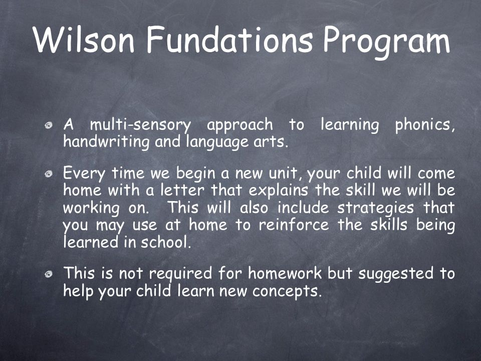 Wilson Fundations Program