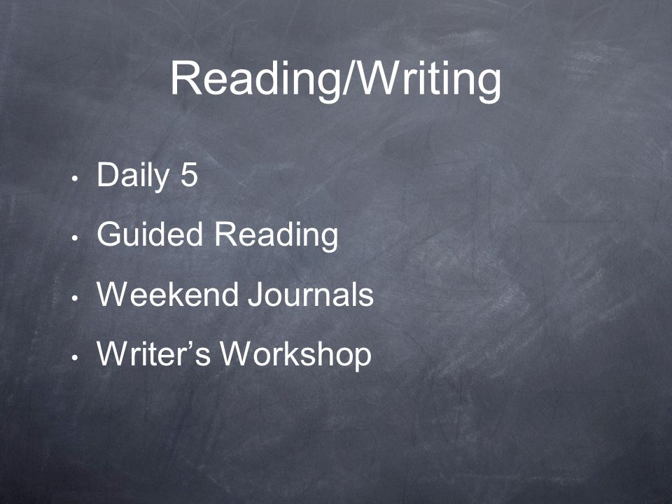 Reading/Writing Daily 5 Guided Reading Weekend Journals
