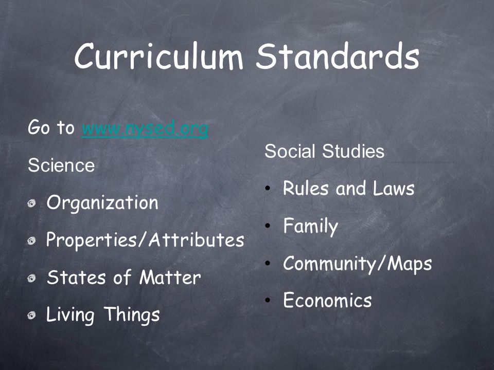 Curriculum Standards Go to   Social Studies Science