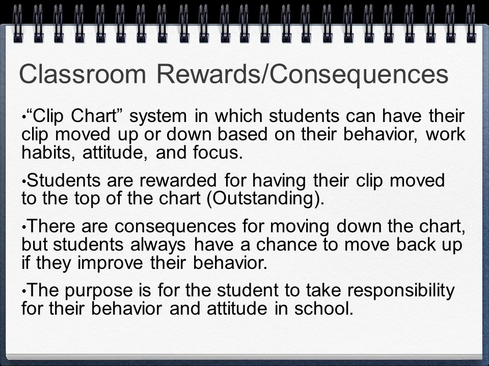 Classroom Rewards/Consequences
