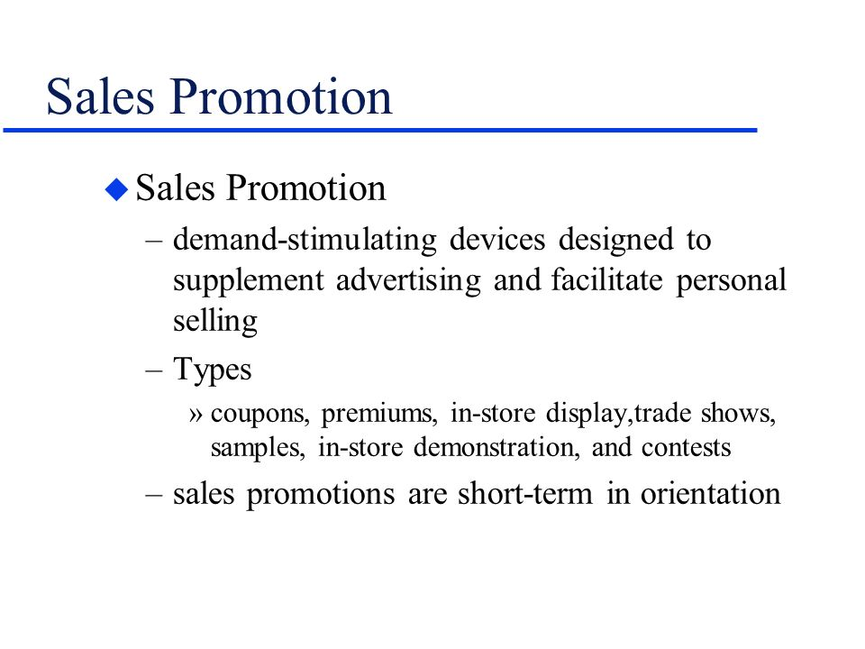 sales and trade promotions consumer orientation essay Sales promotion:consumer oriented promotion, how to use trade promotion, dealing with the trade advertising and promotion business advertising business marketing.