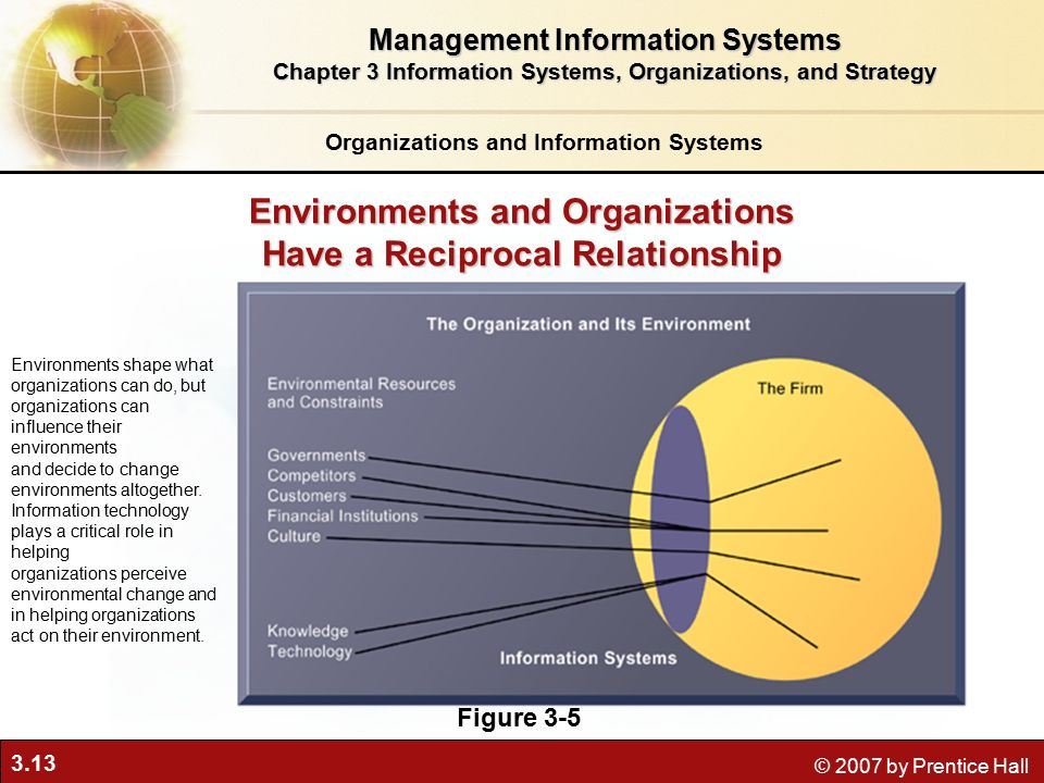 Environments shape organizations