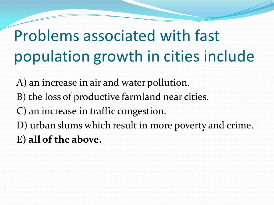 1 problem associated with urbanization and The industrial revolution had a lasting effect on class structure, urbanization and lifestyle problems of urbanization and daily life in the north.