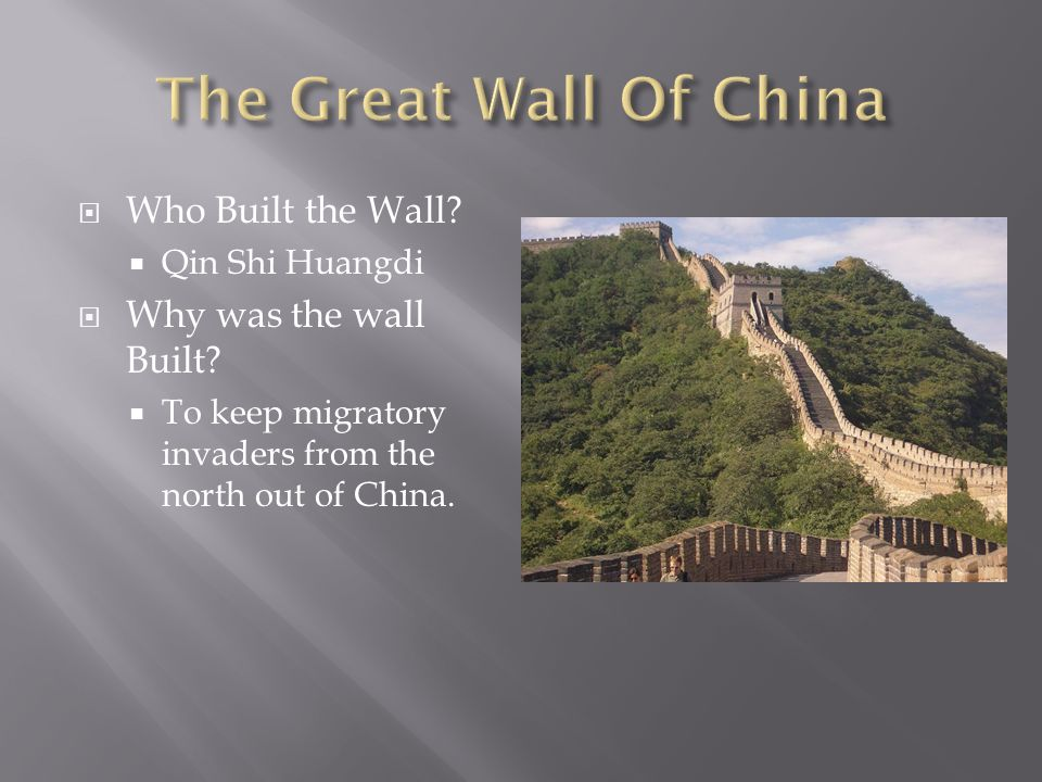 Thesis statement about the great wall of china