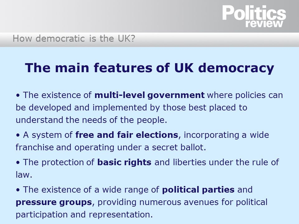 an analysis of the features of a democratic government The factors representing characteristics of liberal democracy liberal democracy and liberal democratic countries right here these features describe this.