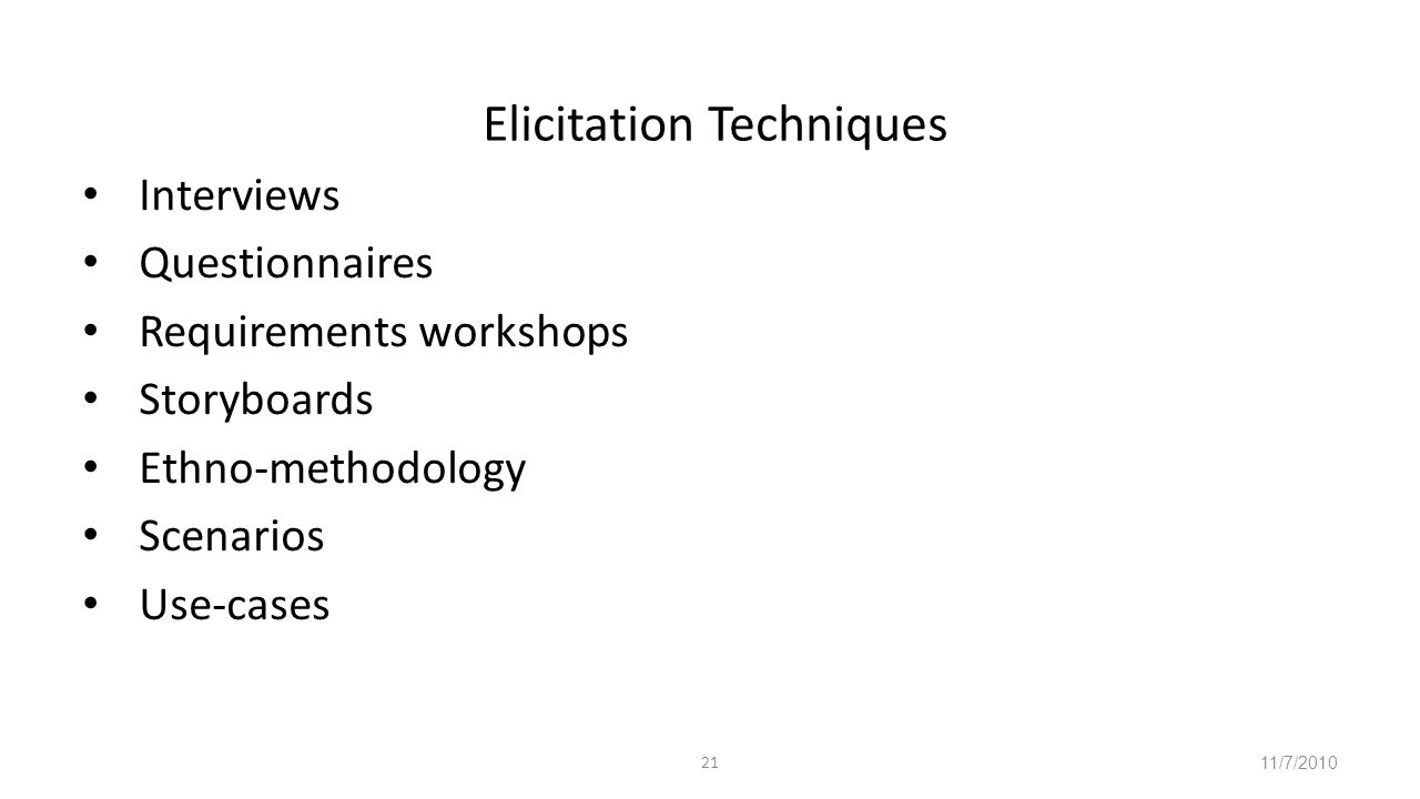 requirement elicitation techniques in software engineering pdf